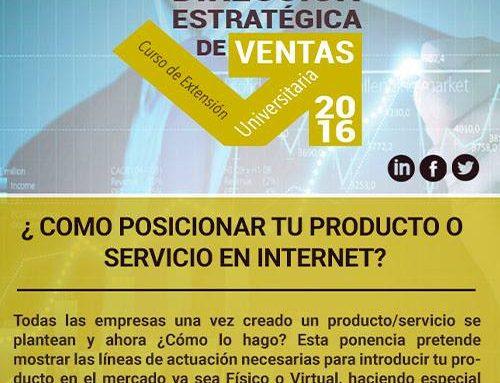 Ponencia gratuita sobre cómo posicionar tu producto o servicio en Internet